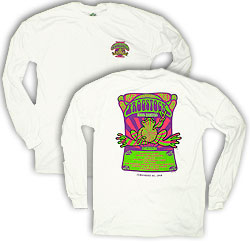Peace Frogs Frogstock Adult Long Sleeve T-Shirt