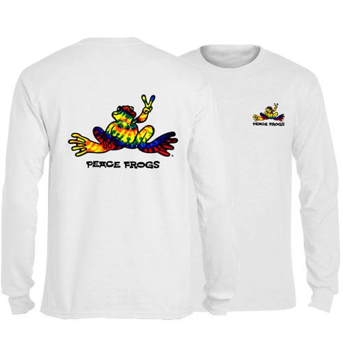 Peace Frogs Tie Dye Frog Adult Long Sleeve T-Shirt