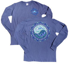 Peace Frogs Tribal Dolphin Adult Long Sleeve T-Shirt