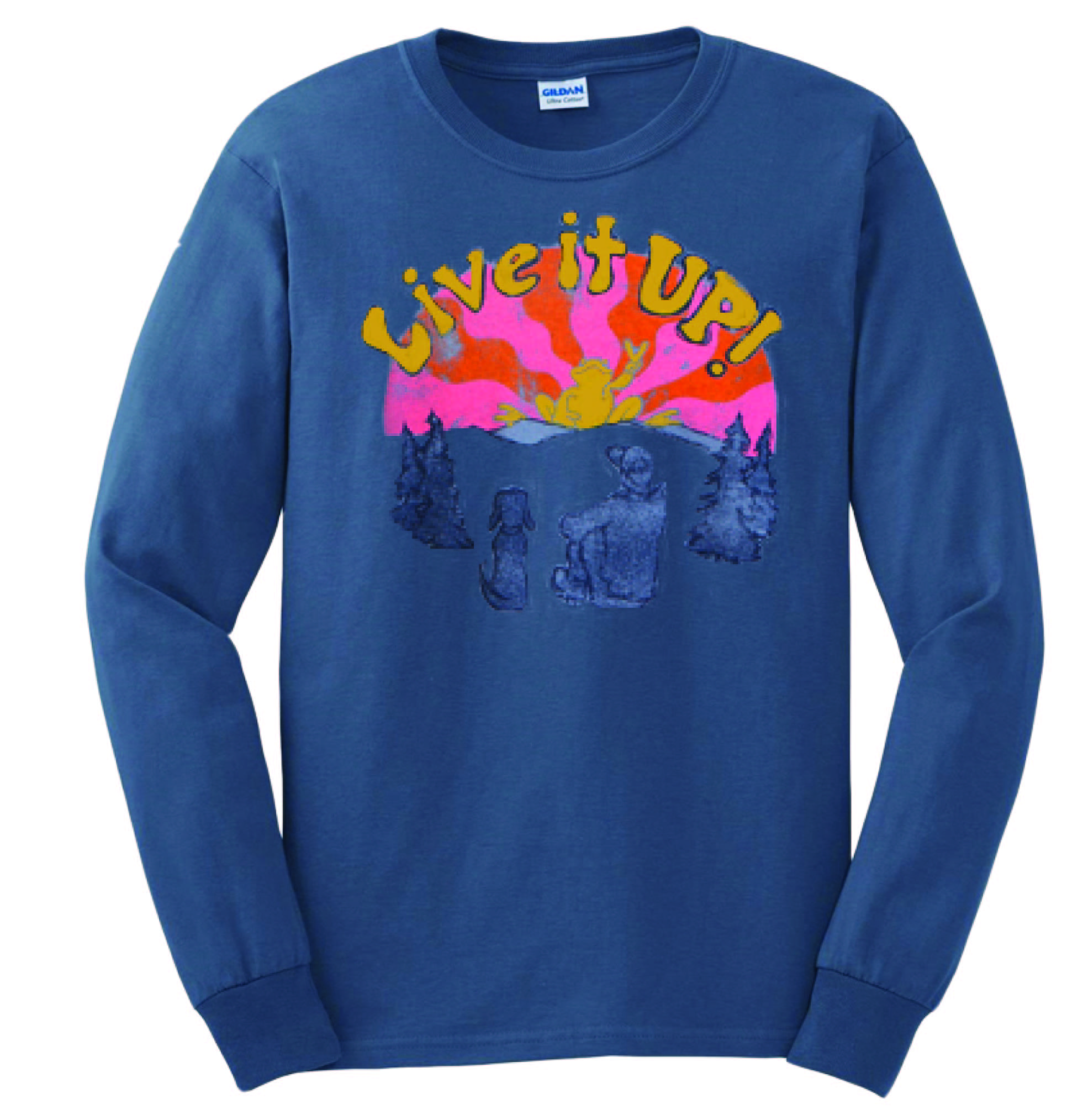 Peace Frogs Live It Up Adult Long Sleeve T-Shirt