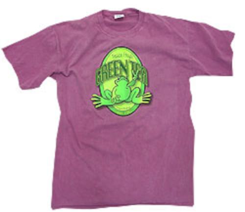 Peace Frogs Adult Green Tea Garment Dye Short Sleeve T-Shirt