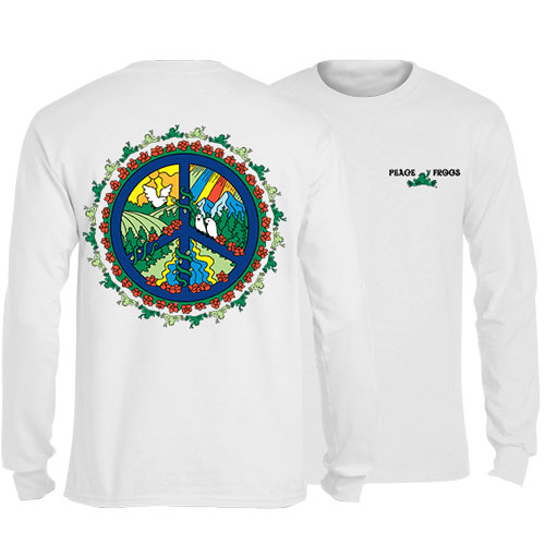 Peace Frogs Peace Picture Adult Long Sleeve T-Shirt
