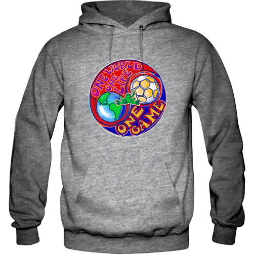 d4f0718e7 Peace Frogs One World Printed Adult Hooded Pullover Sweatshirt ...