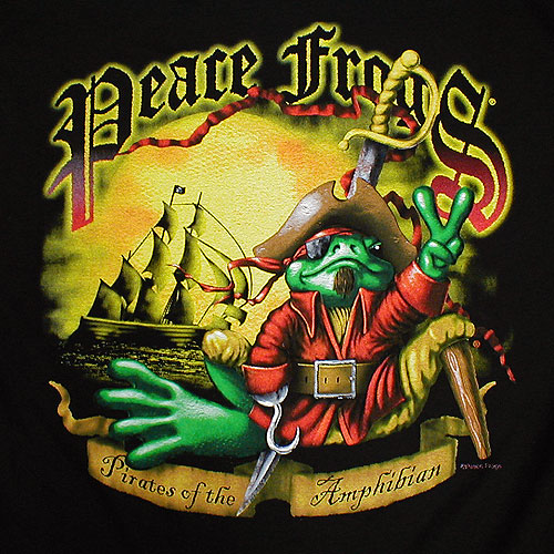 Peace Frogs Pirate Long Sleeve Kids T-Shirt