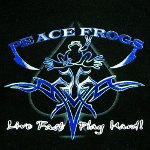 Peace Frogs Inked Printed Youth Hooded Pullover Sweatshirt
