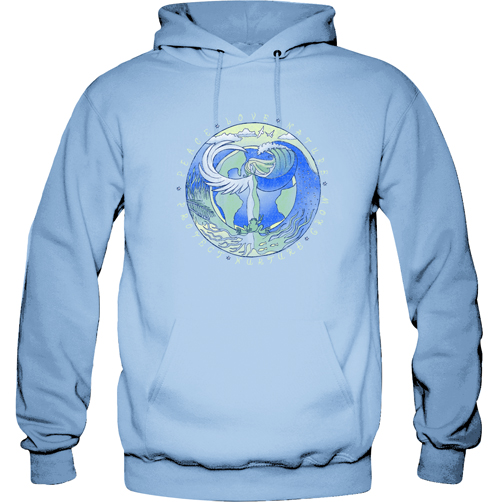 Peace Frogs Mother Nature Printed Adult Hooded Pullover Sweatshirt