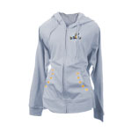 Peace Frogs Night And Day Embroidered Junior French Terry Full Zip Hooded Sweatshirt