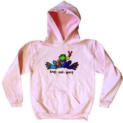 Peace Frogs Body Soul Spirit Printed Kids Hooded Pullover Sweatshirt