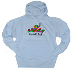 Peace Frogs Heart And Soul Printed Hooded Pullover Sweatshirt