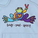 Peace Frogs Body Soul Spirit Printed Adult Hooded Pullover Sweatshirt