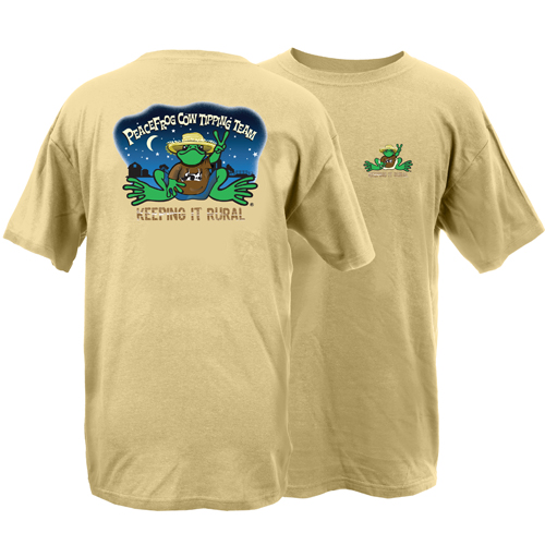 Peace Frogs Adult Cow Tippin Short Sleeve T-Shirt