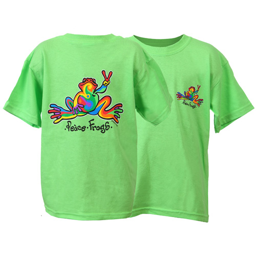 Peace Frogs Retro Short Sleeve Kids T-Shirt