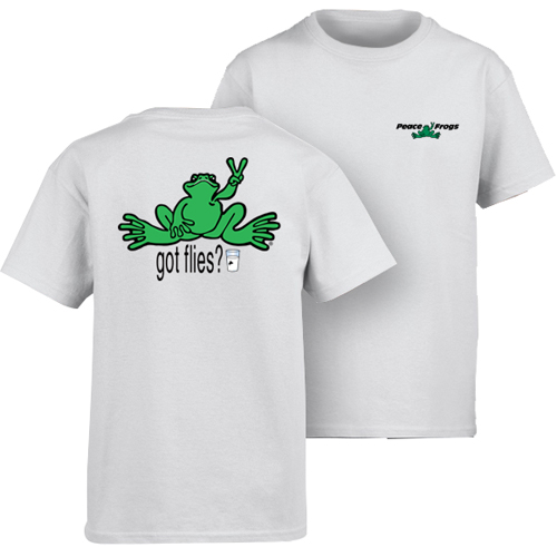 Peace Frogs Milk Short Sleeve Kids T-Shirt