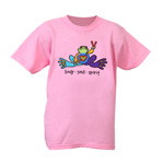 Peace Frogs Body Soul Spirit Short Sleeve Kids T-Shirt