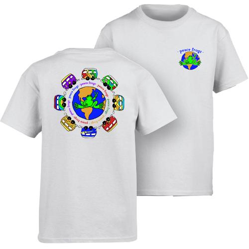 Peace Frogs Vans Around The World Short Sleeve Kids T-Shirt
