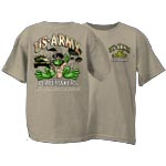 Peace Frogs US Army Short Sleeve Kids T-Shirt