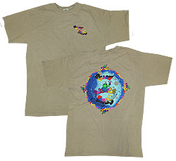 Peace Frogs Adult New Age Garment Dye Short Sleeve T-Shirt