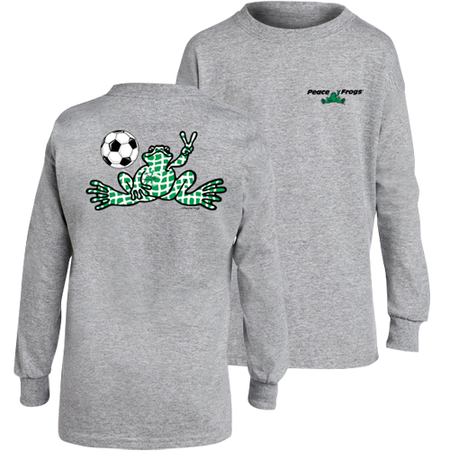Peace Frogs Granite Soccer Long Sleeve Kids T-Shirt