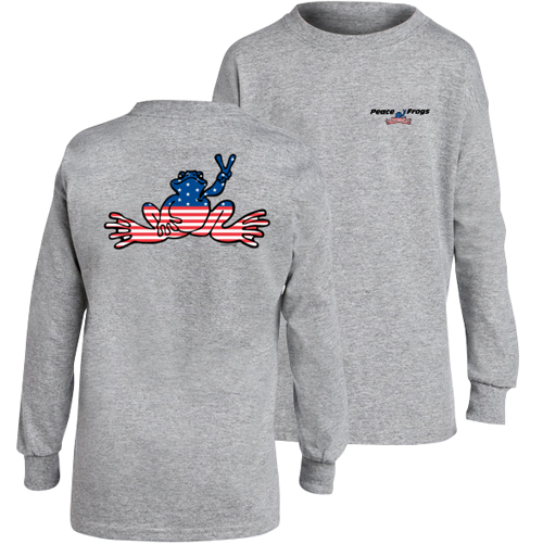 Peace Frogs Granite USA Long Sleeve Kids T-Shirt