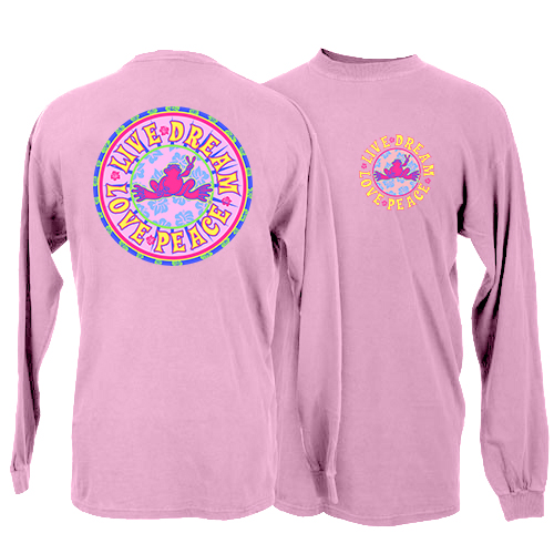 Peace Frogs Live Dream Long Sleeve Kids T-Shirt
