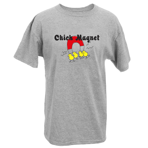 Beyond The Pond Adult Chick Magnet Short Sleeve T-Shirt