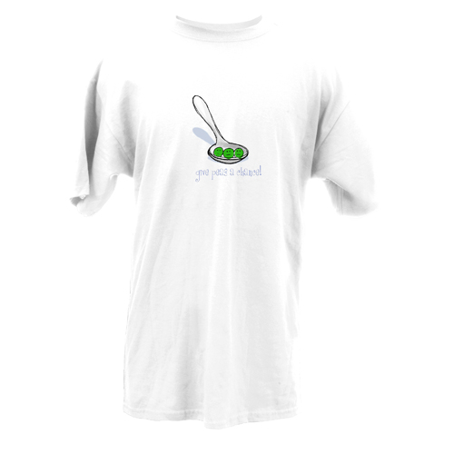 Beyond The Pond Adult Give Peas A Chance Short Sleeve T-Shirt