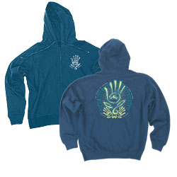 Hooded Full Zipped Screen Printed Sweatshirts