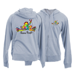 Junior Hooded Full Zipped French Terry Sweatshirts