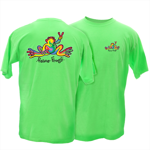 Peace Frogs Retro Comfort Wear is loungewear with that lived-in look. The T-Shirt features a small screen print on the left chest and a large print on back. The.