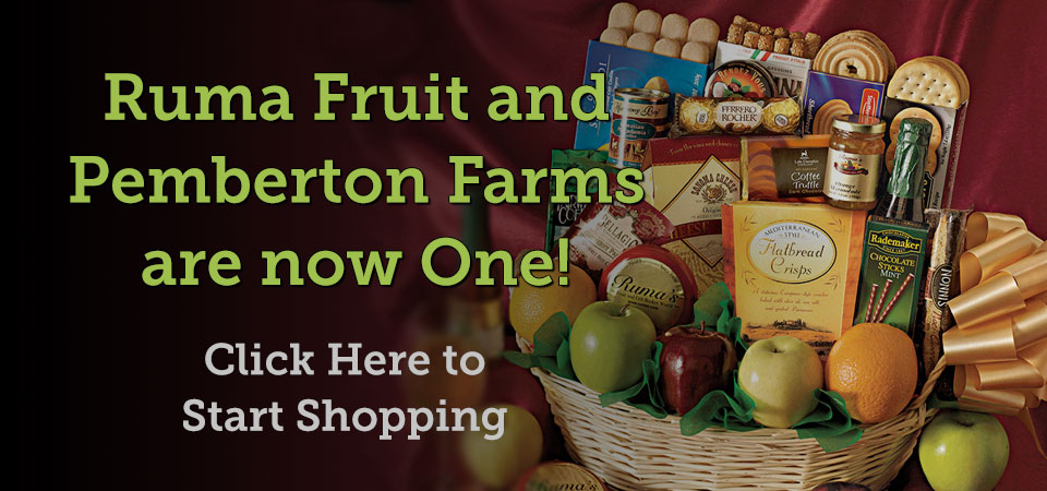 Shop all your favorite Ruma Fruit and Pemberton Farms gift on one site