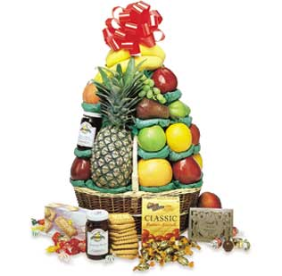 Perfect Cheer Baskets, Gourmet Fruit Basket