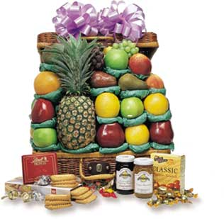 The Executive Fruit and Gourmet Suitcase