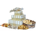 3-Tier Golden Stripe Tower