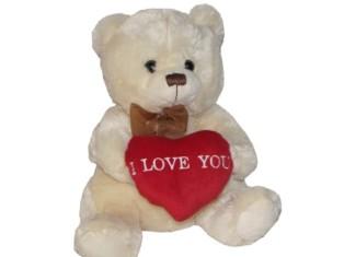 """""""I Love You Bear"""" - Beige"""