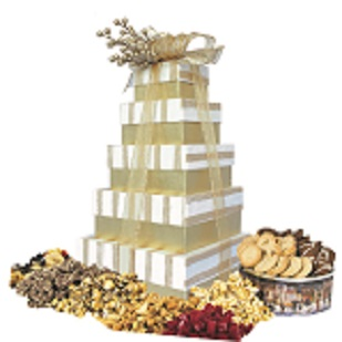 5-Tier Golden Stripe Tower