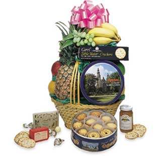The Traditional Sampler Fruit & Gourmet  Basket