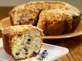 Blueberry Blizzard Coffee Cake