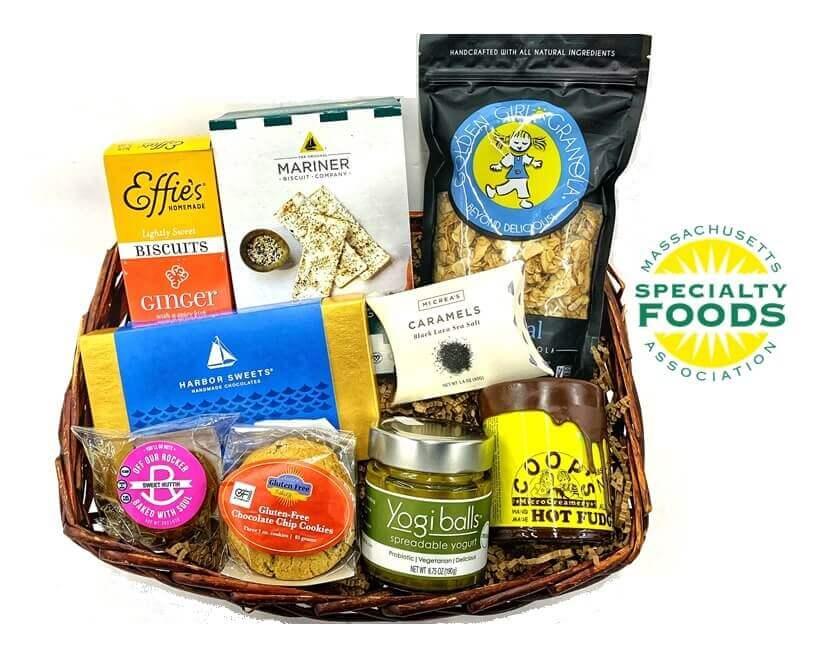 Massachusetts Specialty Foods Thank You Basket - B (Medium)
