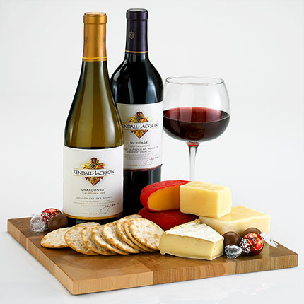Bon Vivant Wine and Cheese Gift Basket