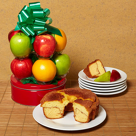 Coffee Cake and Fruit Basket