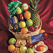 Danish Cookies and Fruit Basket