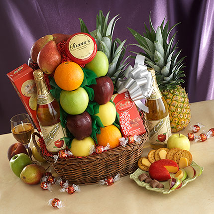 In Your Time of Sorrow Sympathy Fruit & Gourmet Basket