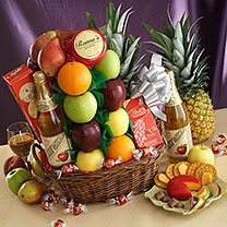 In Your Time of Sorrow Sympathy Fruit & Gourmet Basket - Royal