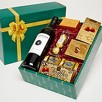 Red Wine & Chocolate Treasures Gift Box
