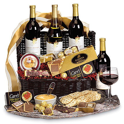 Mondavi & Godiva Wine and Chocolate Gift Basket