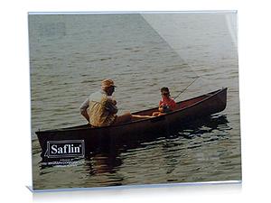 Saflin Extra Sturdy Bent Acrylic Frame 3-1/2x5 Horizontal