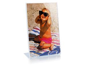 Saflin Extra Sturdy Bent Acrylic Frame 8x10 Vertical