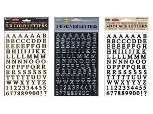 Pioneer Self-Adhesive 3-D Letters