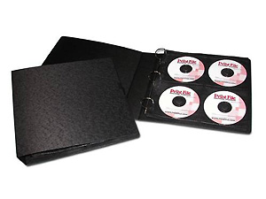 Print File Wide 3-Ring Binder For CD / DVD Pages