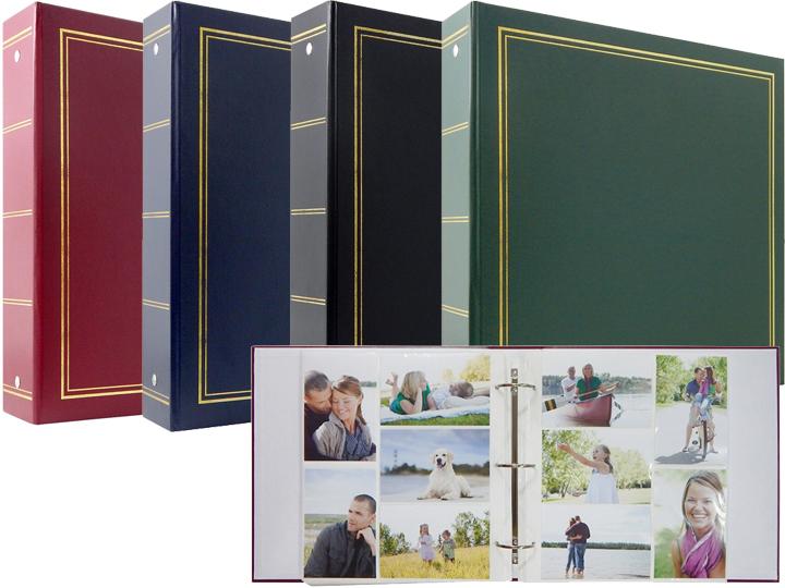 3-Ring Photo Album 204 Pockets Hold 4x6 Photos Cascading Flowers Design